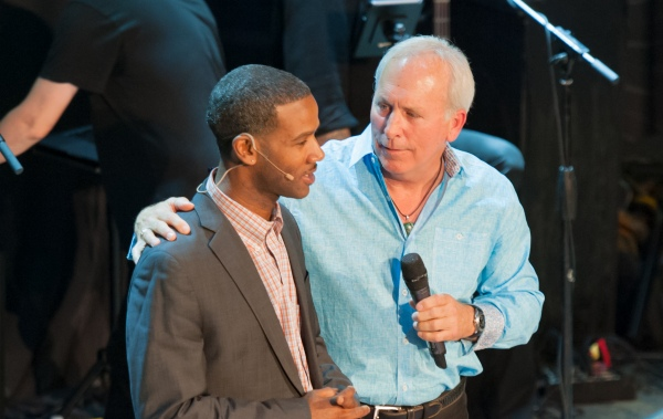 D Arlando Fortune (L) and Richard Brendan at a Walk the Talk event in 2017